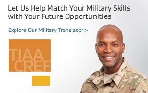 Let us help match your military skills with your future opportunities. Explore our military translator.