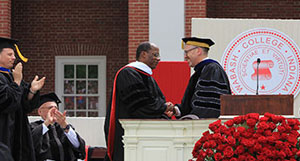 Roger is presented honorary doctorate at Wabash College.