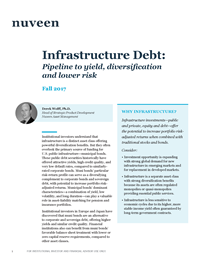 Infrastructure Debt: Pipeline to yield, diversification and lower risk