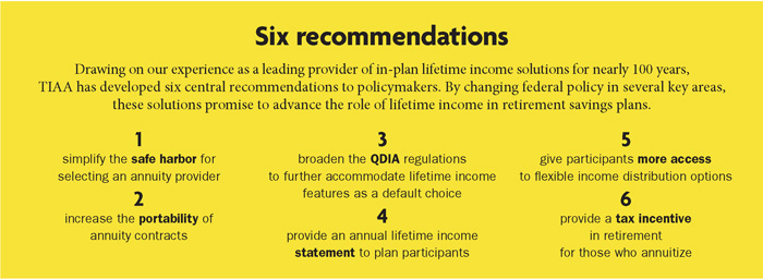 Six recommendations