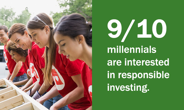 9 in 10 millennials are interested in responsible investing