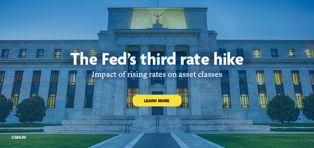 The Fed's third rate hike. Impact of rising rates on asset classes. Learn more