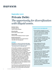 Private debt: The opportunity for diversification with illiquid assets
