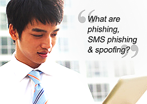What are phishing, SMS phishing, and spoofing?