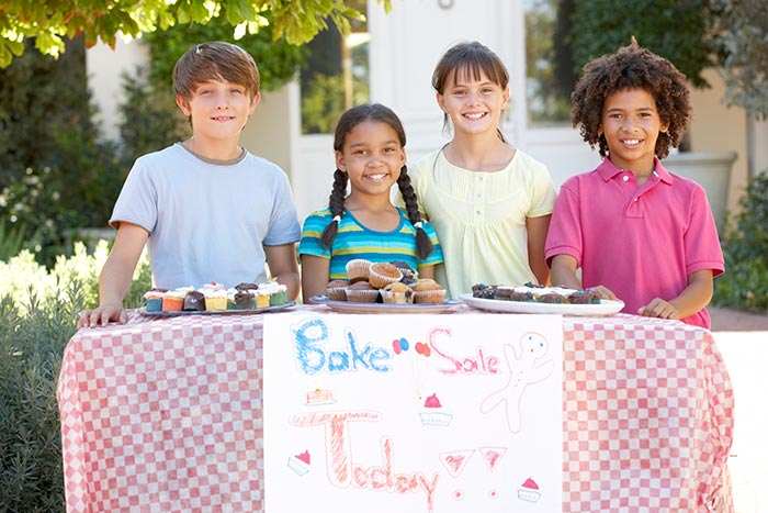 Four kids find a way to make money by starting a bake sale